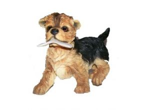 Playful Puppy Yorkie, Leonardo Giftware