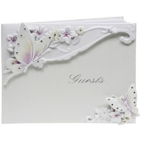 Bridal Butterfly Guest Book