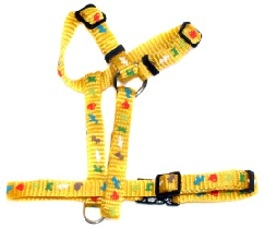 Yellow Animal Print D Style Harness