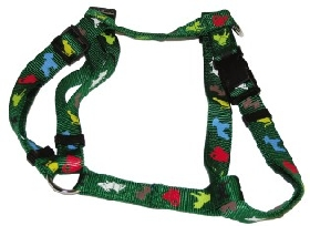 Green Animal Print D Style Harness