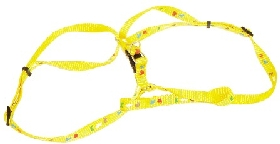 Yellow Animal Print A Style Harness