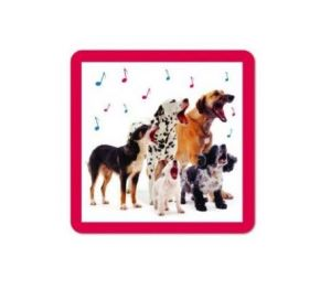 A Barking Good Supper Coasters, (6 Pack)