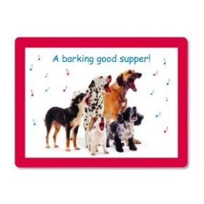 Barking Good Supper Placemat, (6 Pack)