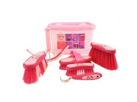 7 Piece Grooming Kit and Storage Box, Pink