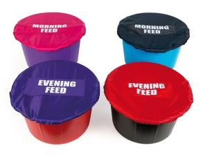 Mealtime Bucket Covers, Evening Feed, Red