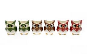 Bright Wise Owl Egg Cup Pair