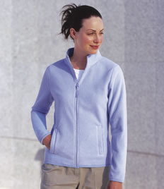 Lilac, Ladies Micro Fleece Jacket, With Logo