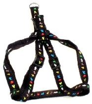 Black Animal Print A Style Harness