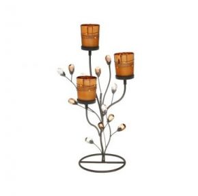 Copper Glow Candle Holder (3)