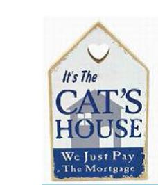 Cats House Plaque