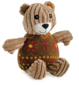 Ancol Corduroy Cute Bear With Squeaker