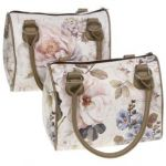 Floral Barrel Tote Bag