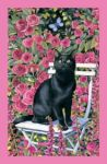 Black Cat Rose Garden, Tea Towel