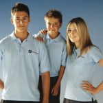 Junior Polo Age 11-13 navy, With PET-CO Outdoor Logo