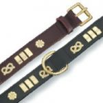 Traditional Bull Terrier Leather Collars, Black