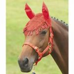 Fly Veils With Ears Crochet, Red