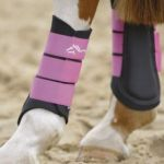 Shires Neoprene Brushing Boots, Pink